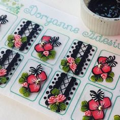 Image may contain: 1 person Manicure Y Pedicure, One Stroke Painting, Nail Envy, Nail Stickers, Vinyl Decals, Nail Designs, Nail Art, Bjd, Beauty