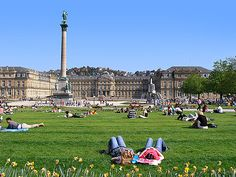 schlossplatz stuttgart. summer come back! i want you and my ice tea !