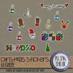 Christmas Stickers freebie
