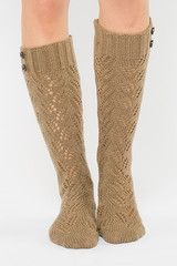 camel button boot socks