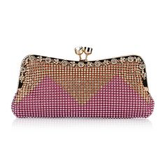 Fashion Satin With Austria Rhinestones Evening Handbags/ Clutches More Colors Available – USD $ 17.49