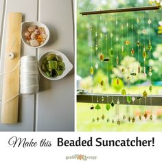 Save the Birds: Beaded suncatcher mobile. This suncatcher is a quick DIY project you can create in a weekend afternoon.