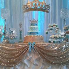 Prince baby shower party blue and gold dessert table! Shower Party, Baby Shower Parties, Baby Shower Themes, Baby Shower Decorations, Shower Ideas, Shower Cake, Shower Favors, Lila Party, Baby Party