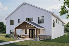Barndominium with a Massive Workshop and an Apartment Above - 62328DJ | Architectural Designs - House Plans Pole Barn House Plans, Shop House Plans, Metal House Plans, Barn Homes Floor Plans, Barn Style House Plans, Barn Plans, Pull Barn House, Garage House Plans, Car Garage