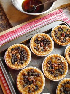 """Finally weaseled Mom's Famous Butter Tart Recipe out of her. """"Well,"""" she says """"the first thing you need is a good overproof rum. Rum Butter, Butter Tarts, Barefeet In The Kitchen, Tarts Recipe, Carlsbad Cravings, Food Network Recipes, Food To Make, Gypsy, Sweet Treats"""