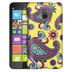 Nokia Lumia 1320 Paisley Flower on Yellow Slim Case