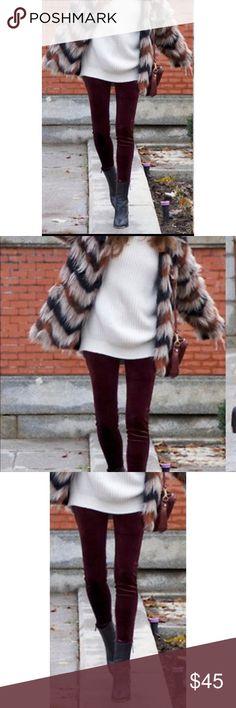 🆕 Michael Kors Leggings These solid burgundy pull-on leggings from MICHAEL Michael Kors offer a versatile style.  Cotton / polyester / elastane Stretch waist Ankle length Michael Kors Pants Leggings