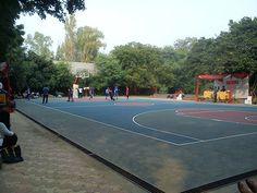 Basketball match during Dr. Bharat Ram Sports Meet