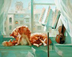 Cute Musicians: Maria Pavlova Paintings -