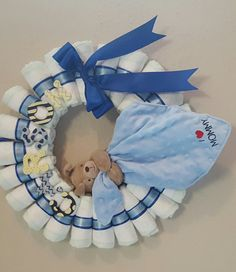 Made to order diaper wreath!!!! Just let me know what colors or theme you want.