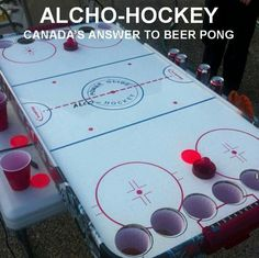All I need now is an old air hockey and I'm set!! This looks fun! #games