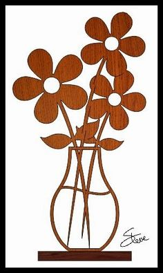 Scrollsaw Workshop: Flower Vase Scroll Saw Pattern.
