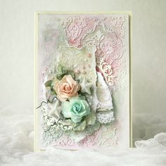 Made by Pastellipäivä. Mixed Media, Shabby Chic, Frame, Cards, Handmade, Painting, Home Decor, Chic, Homemade Home Decor