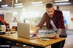 Stock Photo : Man working in printing factory
