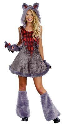 Full Moon Sass Werewolf Teen Costume - Halloween Costumes