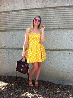 Oh my STYLEista: She Wore A Yellow Polka Dot Dress