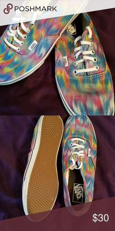 Vans Never Worn, brand new, I love them but I got the wrong size, rainbow colored Vans Shoes Sneakers