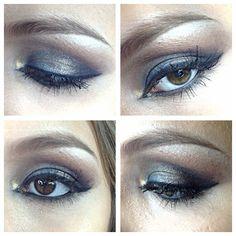 Orange, Purple, Blue and Bronce Makeup