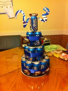Beer birthday cake for Josh's 23rd!! :)