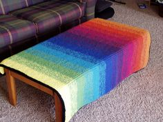 Ravelry: Ombre Alpaca Blanket pattern by Joelle Hoverson