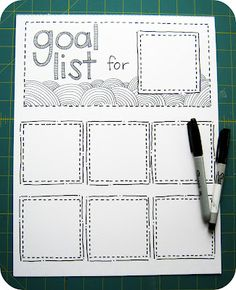 DIY Rotating Goal List using Post It's (monthly, weekly,daily whatever you need).