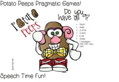 Speech Time Fun: Potato Peeps Pragmatic Games!