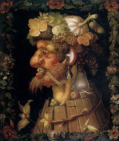 Art History's Most Outrageous Beards and Mustaches - Artsy Giuseppe Arcimboldo, Louvre, Magnum Opus, Paul Gauguin, Portraits, Beard No Mustache, Fruit Art, Salvador Dali, Vincent Van Gogh