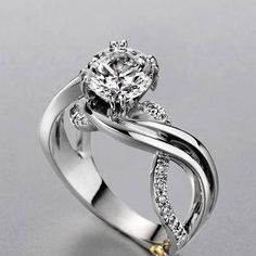 Engagement ring with a twist