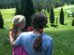 It's fun to have your best friend come up to Montana for a visit in the Summer! (Caitlin & Carolyn)