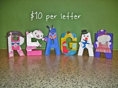 Doc McStuffins Character Letter Art by GunnersNook on Etsy, $10.00