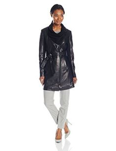 """If you're looking for a 3/4 leather jacket, this is the perfect option for you. This jacket has buttery soft leather, a gorgeous drape front knit collar, and a knit inset in the sleeves to give you extra comfort.       Famous Words of Inspiration...""""A penny saved is a...  More details at https://jackets-lovers.bestselleroutlets.com/ladies-coats-jackets-vests/leather-faux-leather-ladies-coats-jackets-vests/product-review-for-elie-tahari-womens-alexa"""