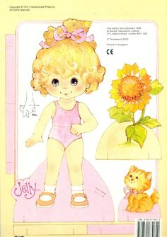 jelly paper doll ~ from peanut butter and jelly paper dolls 1984