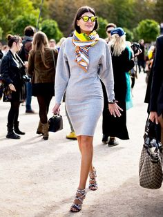 We're no stranger to the sartorial power of accessories, such as the silk scarf. But if you think the only way to wear this piece is by draping it around your neck, we're here to show you via @WhoWhatWear