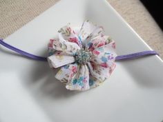 lavender baby headband floral baby headband by hartsandflowers, $5.00