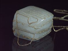 This is weird. Performance jewelry. This is ice cube jewelry and melts as you wear it. I kinda like it.