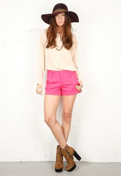 watermelon pink shorts, yes please!