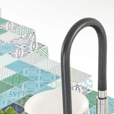 #MadeTerraneo the new finish in the Lago Design product line (36e8 MadeTerraneo kitchen) is like a giant pixelated artwork composed of little handpainted ceramic tiles by @madeamano which recalls Arabic and European cultures.  MadeTerraneo will be on show at iSaloni 2016. Come to discover it at our LAGO Stand at Pavilion 16 Stand B25/C30.  #madeamano #LagoMadeamano #archiproducts #design #lagodesign #kitchen #ceramic #tiles #madeinitaly #mdw2016 #isaloni2016 #eurocucina2016 #salonedelmobile…