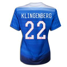 Meghan Klingenberg 22 2015 USA Women Away Jersey