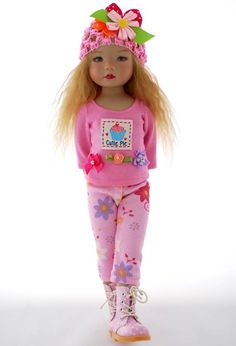 """~Cutie Pie~ Pants Casual Play Outfit for 13"""" Little Darlings by Sharon"""