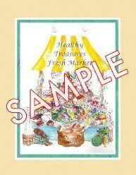 Designed Healthy Living, Healthy Treasures Fresh Market Painting. $7.95