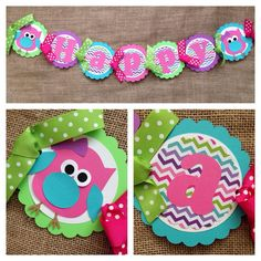 Owl Birthday Banner Party Decoration Decorations Fall