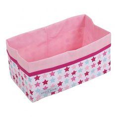 Panier de rangement Mixed Stars Pink – 25x 15 cm – Coton – Little Dutch  Le panier Mixed Stars Pink vous aidera à organiser les espaces de rangement de la chambre de votre enfant. Ce panier haut en couleurs donnera un peps dans sa décoration. De taille 25 x 15 x 15 cm, il est fabriqué 100% en coton. Le panier de rangement Mixed Stars Pink est facile d'entretien, puisqu'il est lavable en machine.