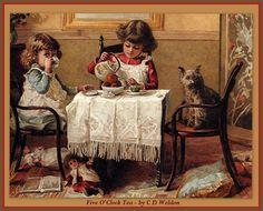 Five o'clock Tea by C D Weldon