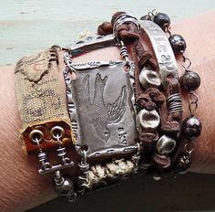 metal, leather & pearls | Nina Bagley