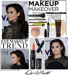 """Demi Lovato Makeup !"" by angel-fallen ❤ liked on Polyvore"