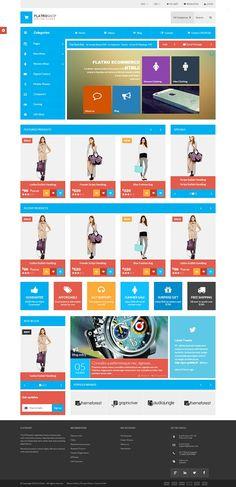 Flatro - Metro Inspired flat eCommerce template
