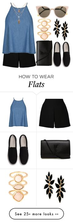 """Untitled #75"" by saraalbuhaire on Polyvore featuring Yves Saint Laurent, Fendi and Monsoon"