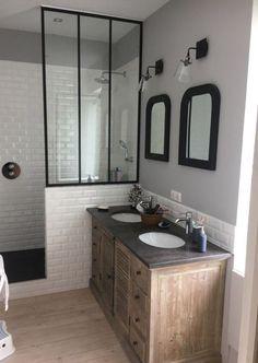 Retro Bathrooms, Chic Bathrooms, Amazing Bathrooms, Modern Bathroom, Small Bathroom, Master Bathroom, Bathroom Ideas, Bathroom Vintage, Neutral Bathroom