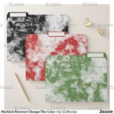FILE FOLDERS • Marbled Abstract Change The Color • Marbled Abstract is an original design created by Gina Lee Manley ©gleem. You have the option to change the product color on each of these file folders