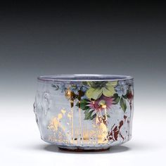 Justin Rothshank : Yunomi, earthenware with glaze and decals, 3x4x4